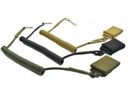 Витой шнур страховки пистолета олива