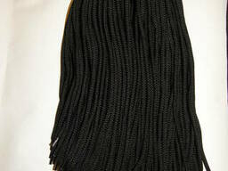 Шнурки черные обувные круглые разного диаметра