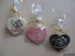 Шоколадные подарки гостям свадьбы (бонбоньерки)