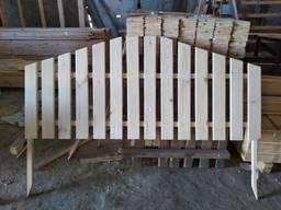 Штакетник, Деревянный забор