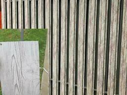 Штакетник металлический 0,4мм Китай под дерево 105мм Printech/RAL 3-D Белое дерево