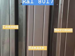 Штакетник Ral 8017 шоколад Мат, Глянец, Наждак/Толщина - 0, 5