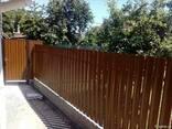 Штакетник металлический евроштакетник забор из штахета - фото 4