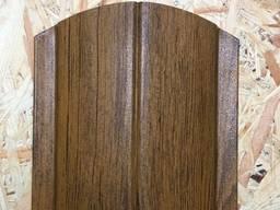 Штакетник (штакет) металлический 130мм золотой дуб 3d