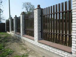 Штакетный забор для базы отдыха