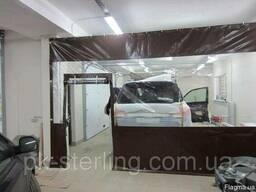 Тентовые шторы для автомоек СТО, окрасочных цехов