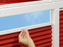Шторы Плиссе на окна по низкой цене в Буче. Шторки в гармошу