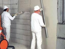 Штукатурка стен | машинным способом