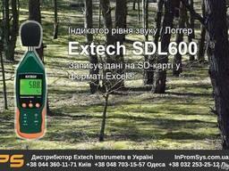 Шумомер / регистратор с SD картой Extech SDL600