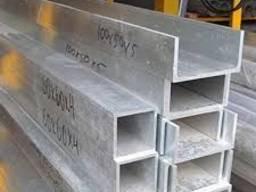 Швеллер алюминиевый, равнополочный АД-1, АД-31, АД-0
