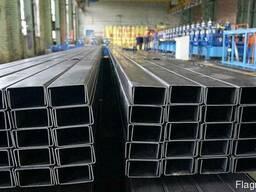 Алюминиевый швеллер 12x12x1,5 б. п. (П-профиль)