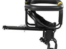 Сиденье для ребенка на раму велосипеда с подножками и спинкой Lixada Black