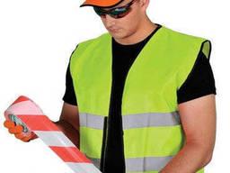 Сигнальные жилетки рабочим от 10 шт, код : 306, Польша