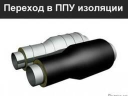 Сильфонные компенсаторы в ППУ изоляции ПЕ, СПИРО.