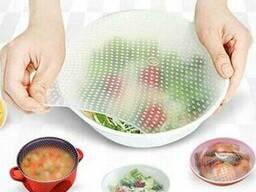 Силиконовые крышки для хранения продуктов Stertch and Fresh