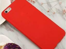 Силиконовый чехол матовый iPhone 6/6s red