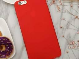 Силиконовый чехол матовый iPhone 7/8 red
