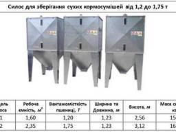 Силос для хранения кормосмесей К-1