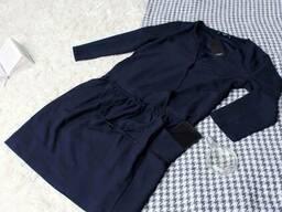 Синє плаття з резинкою і змійкою