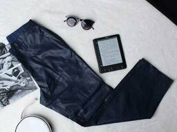 Сині штани з латексу