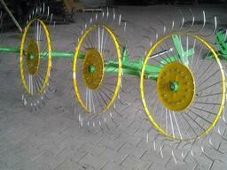 """Грабли навесные """"Солнышко"""" 4-х колёсные"""