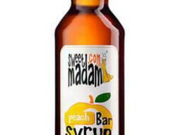 Сироп Sweet Madam, персик, 0. 7 л