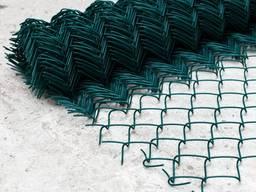 Сітка для огорожі рабиця пвх оцинкована зелена, сетка рабица