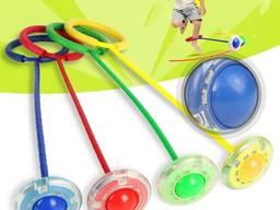 Скакалка на одну ногу со светящимся роликом - нейроскакалка