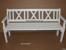 Скамейка белая