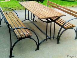 Скамейка садовая, лавочка парковая, кованная скамья для сад