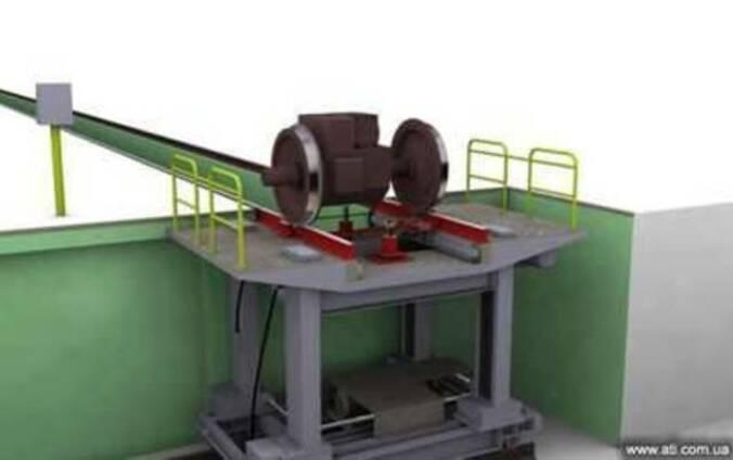 Скатоподъемник для съема колесных пар локомотива