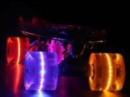 Скейтборд(Penny Board) со светящимися колесами:5 цветов