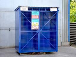 Склад для хранения 12 кислородных баллонов