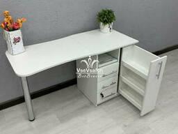 Складной маникюрный стол с ящиком карго. Модель V457