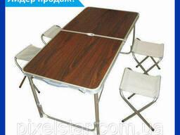 Складной столик для пикника с 4 стульями Folding Table. ..