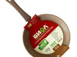 Сковорода 24 см Оптима Декор Биол 24047Р