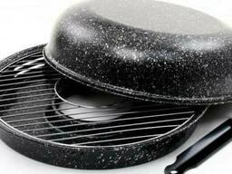 Сковорода гриль-газ с антипригарным покрытием Benson 33 см