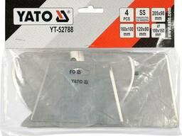 Скребки столярні з нержавійочої сталі YATO : 205х98 мм, 160х100 мм, 120х80 мм, 100х160. ..