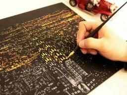 Скреч карты ночных городов (Нью-Йорка, Парижа, Египта, Турции)