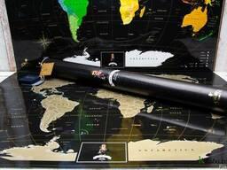 Скретч-карта мира Travel Map Black Edition на английском