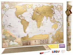 Скретч-карта мира на английском Antique EN Украина Европа подарки