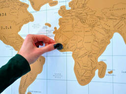 Скретч карта мира (Scratch Map) на русском языке с гербом. .. - фото 7