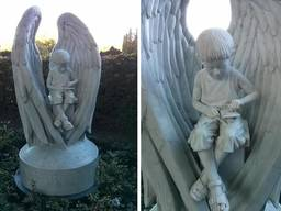 Скульптуры ангелов для памятников на кладбище под заказ