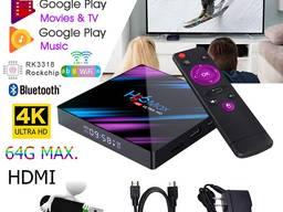 Смарт тв приставка H96 max 4/32 , Android smart tv box, X96