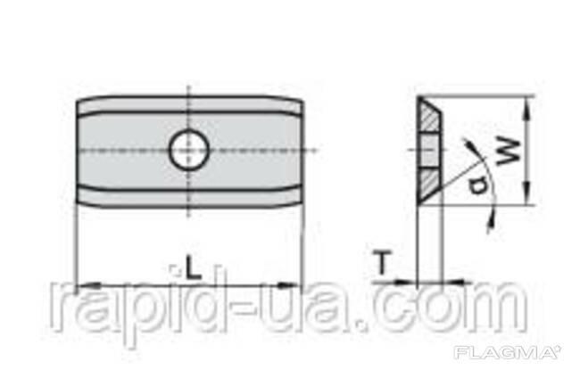 Сменные ножи с 2х сторонней заточкой 24×12×1,5 Ceratizit. ..