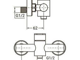 Смеситель HT Ø35 для душа SS Aquatica (HT-1D171P)