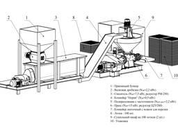 Линия брикетирования . Пресса , смесители , технологии .