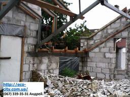 Разбивка старых фундаментов, конструкций