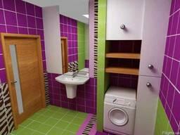 Убрать Стену/Стенку Ванную с Туалетом