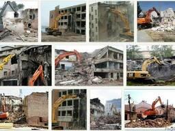Снос промышленных и жилых зданий и сооружений демонтаж дома